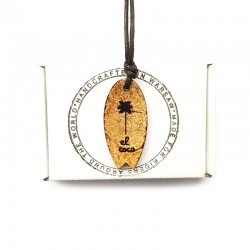 Necklace SURFBOARD PALM LOGO