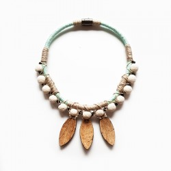 Necklace El Coco Coconut Aqua