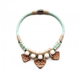 Necklace El Coco Coconut Trio