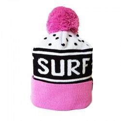 POM BEANIE LET IT SURF PURPLE