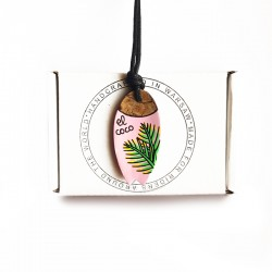 Necklace SURFBOARD PINK PALM